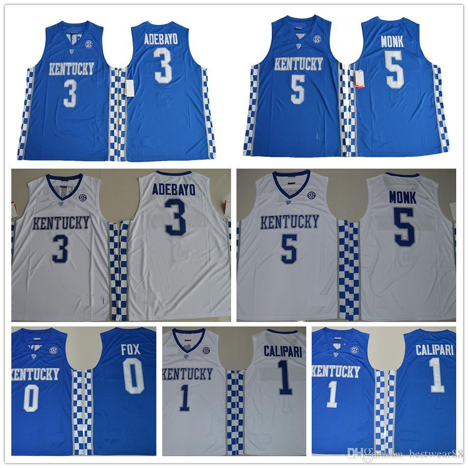 ... 2017 kentucky wildcats college men basketball jerseys 5 malik monk 3  edrice adebayo 1 coach john e21d5f4a2