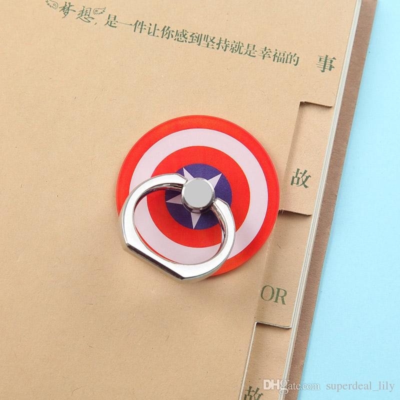 Universal 360 Degree Super Hero Superman Batman Spiderman Finger Ring Holder Phone Stand For iPhone X Samsung Mobile Phones