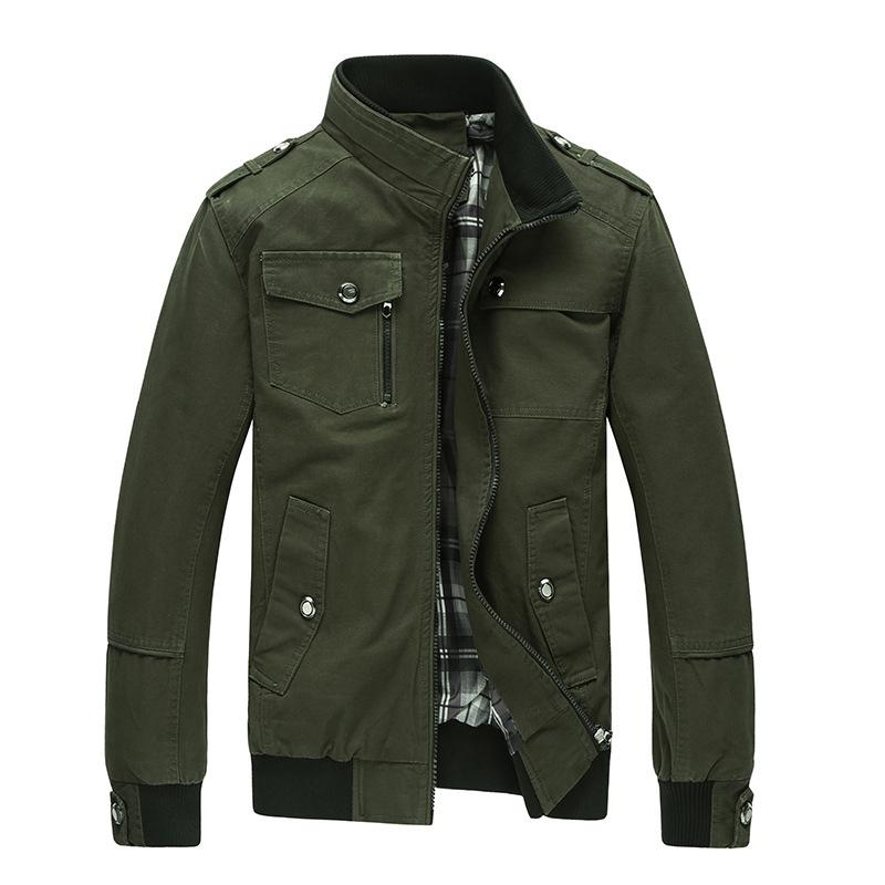 b2cbcb2b Mountainskin Casual Men s Jacket Spring Army Military Jacket Men Coats  Winter Male Outerwear Autumn Overcoat Khaki 4XL EDA085