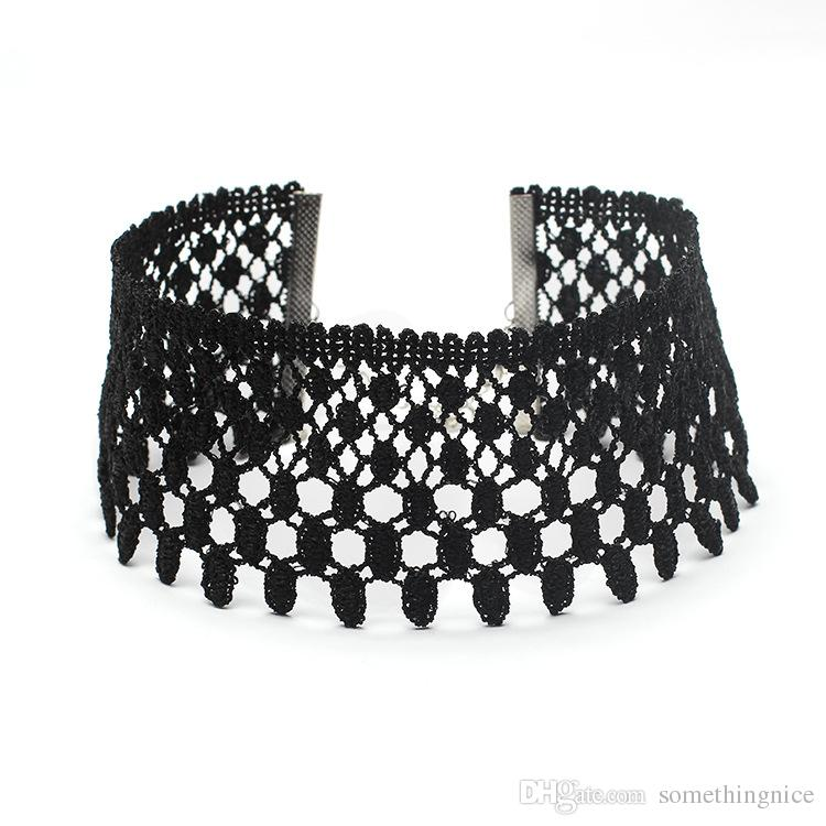 2019 2017 Hot Selling Lace Choker Black Link Necklace For Women Fashion Jewelry  Retro Vintage Chokers Cheap Jewelry Wholesale NICE From Somethingnice, ...