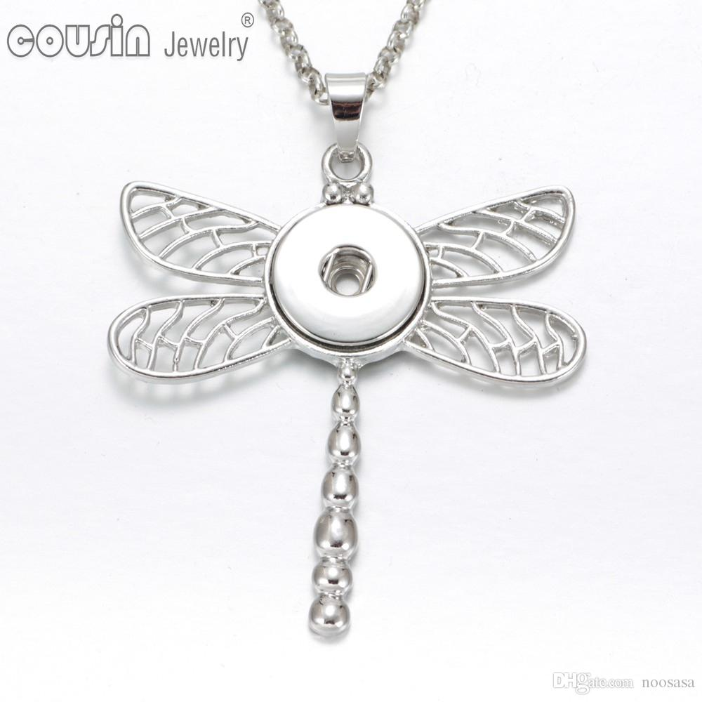 jewellery inch amazon pendant curb necklace sterling silver shell dp cm of chain co on uk pave tuscany dragonfly