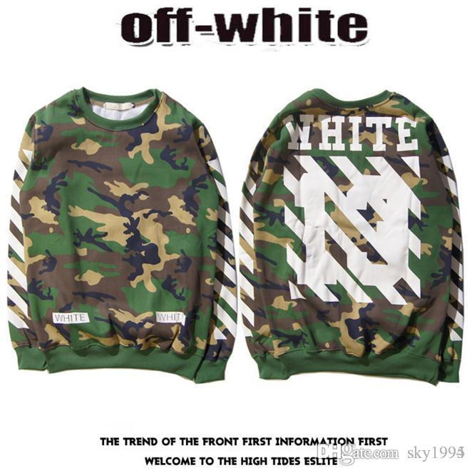 2019 New 2016 Off White 13 Mens Pullover Stripe Offset Print Hoodies