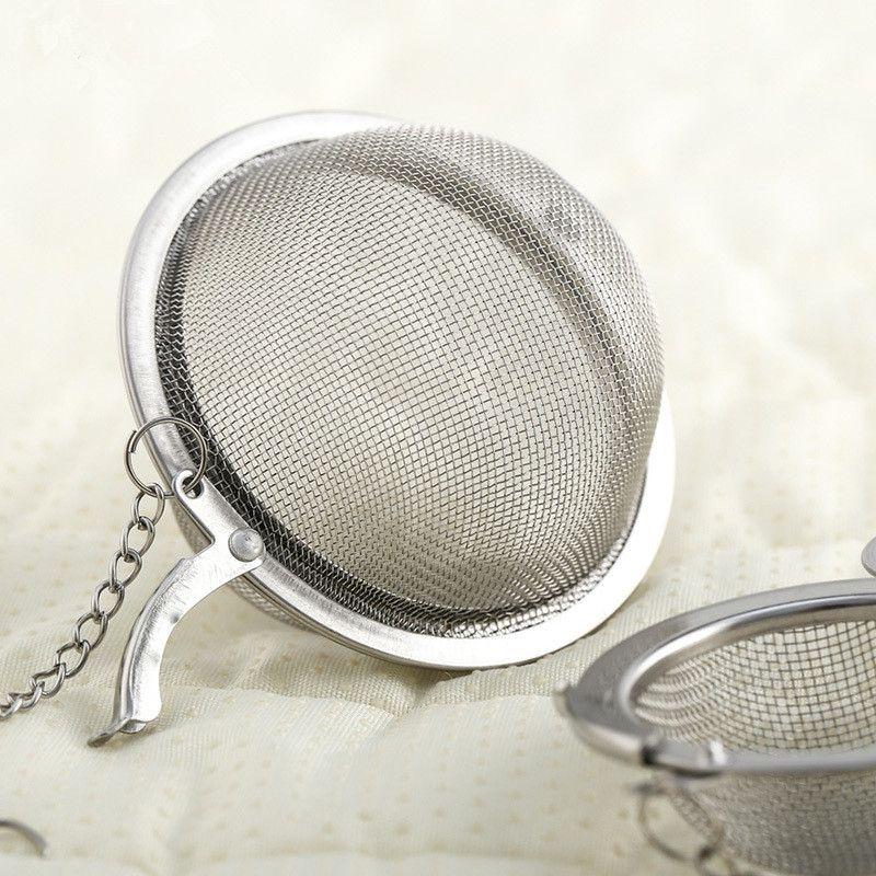 Big Promotion!! Stainless Steel tea infuser 4.5cm / 5.5cm / 7cm Tea Pot Infusers Sphere Mesh Tea Strainer Ball