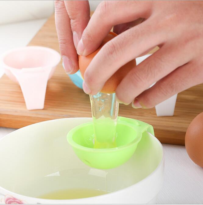 kitchen gadgets egg tools DIY plastic white yolk egg separator divider kitchen accessories cooking tool chef filter holder