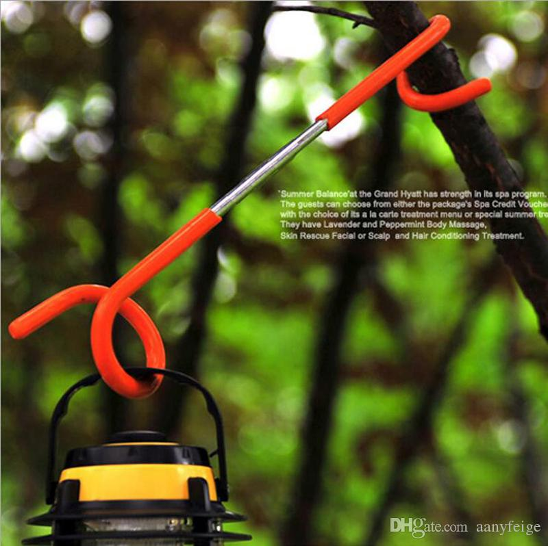 Outdoor Tent Light Hook Lantern Light Lamp Hanger Tent Pole Post Hooks Holder For Camping Hunting Fishing Aid