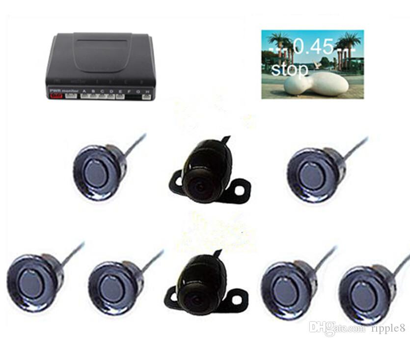 Six Sensors Car Parking Sensor PZ600-6 Fit For TFT LCD DVD Rearview Mirror Display 2 Front 4 Rear Automatically Work Free DHL