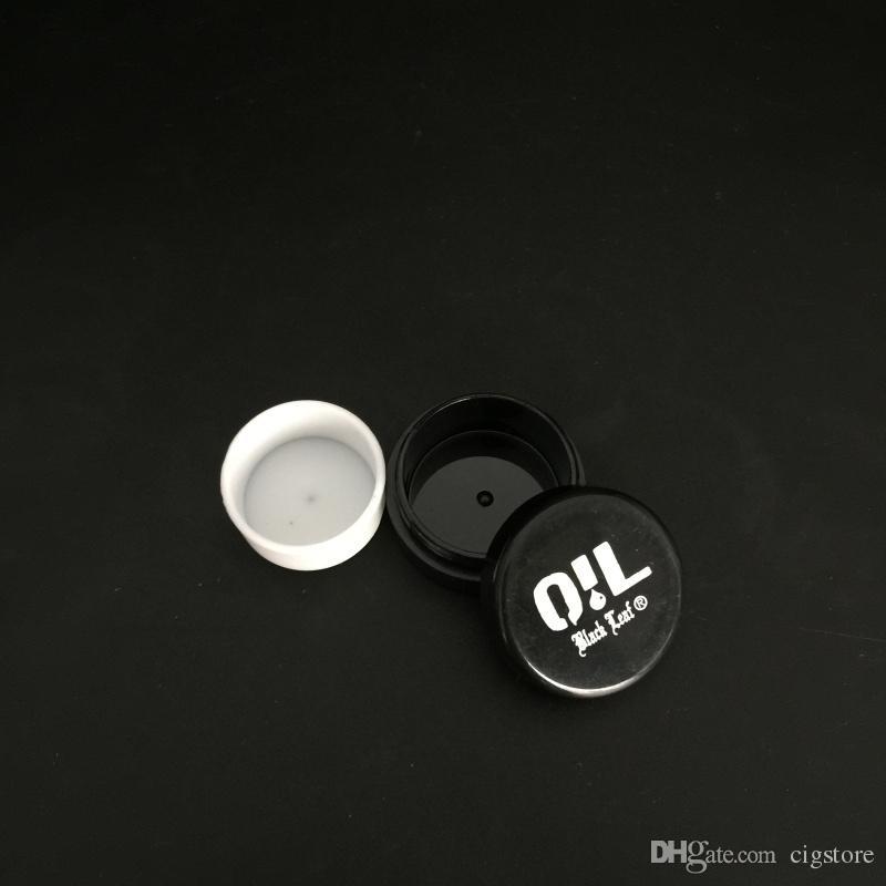 3 ملليلتر واضح الاكريليك الشمع حاويات التركيز ، غير عصا سيليكون dab bho التجزئة النفط عشب جاف التخزين الجرار شحن مجاني