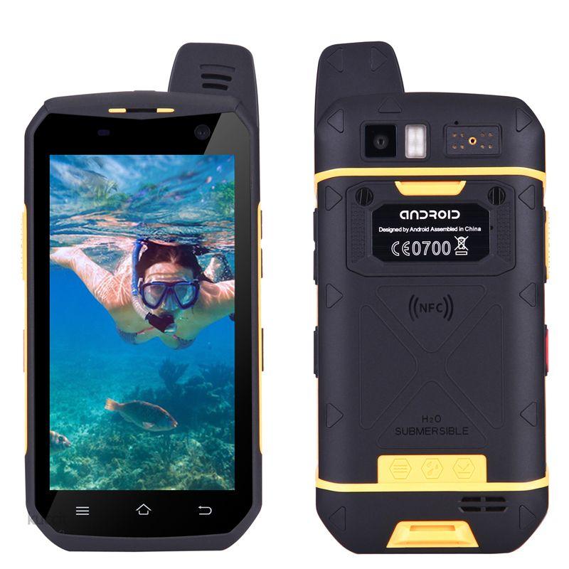 4G LTE Walkie Talkie phone UNIWA B6000 Octa Core 4GB RAM 64GB ROM 5000mAh NFC Dual Camera Android 6.0 IP68 Waterproof Smartphone Newest