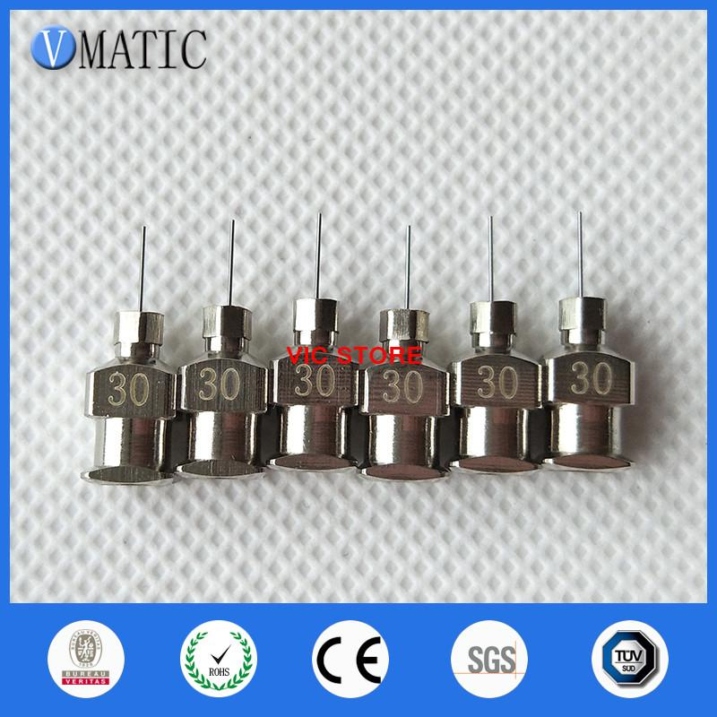 High Precision All Metal Tips 30G 1/4 inch Blunt Stainless Steel Dispensing Needles Syringe Needle Tips