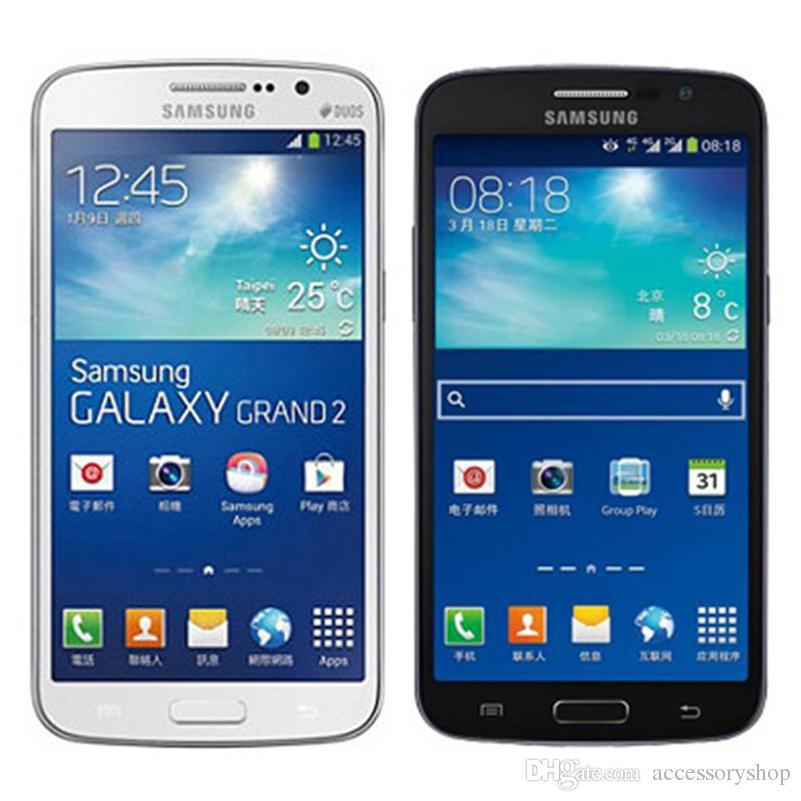 c103ebae38a Refurbished Original Samsung Galaxy Grand 2 G7102 5.25 Inch Quad Core 1.5GB  RAM 8GB ROM 8MP Camera 3G WCDMA Phone Free DHL Best Deals For Mobile Phones  Best ...