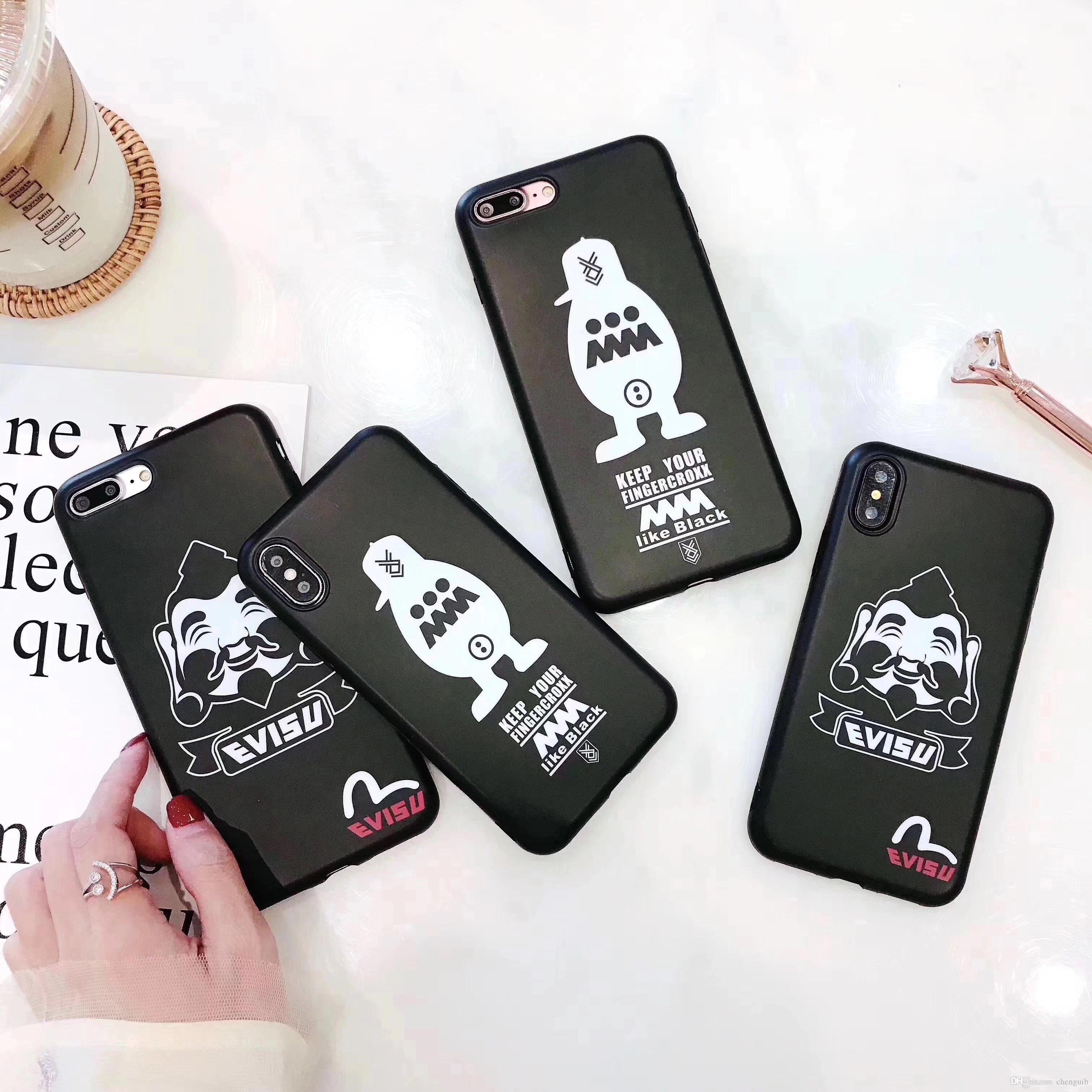 Htc e Handyhüllen Europäische Und Amerikanische Art Und Weise Matte Schwarze Silikontelefonkasten Für Iphonex 7 6 6s 7plus Tpu Weiche Abdeckung Für