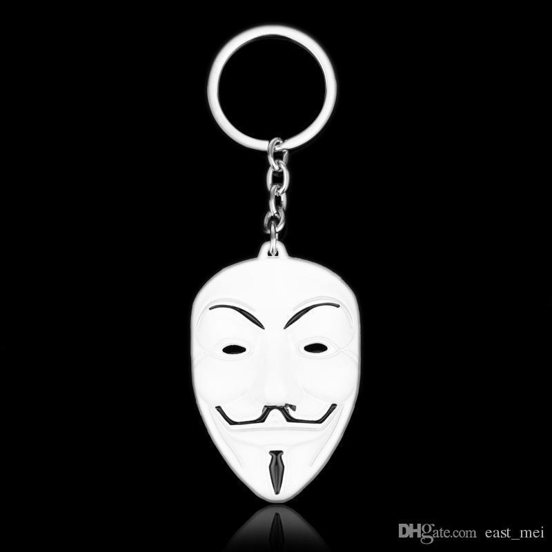 Buena A ++ colgante titular de la clave de la máscara personalizada regalos creativos KR291 Llaveros orden de la mezcla 20 piezas mucho
