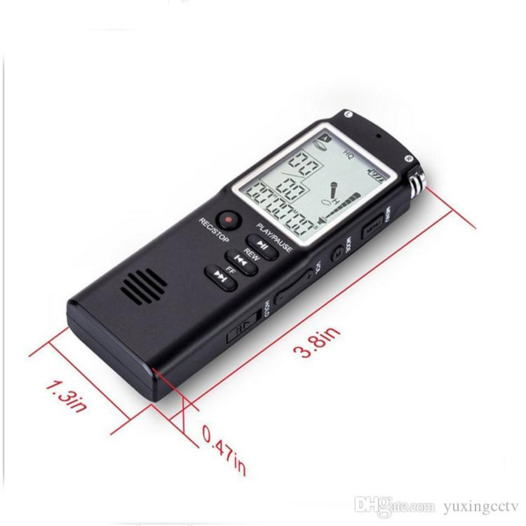 8GB Original Professional Digital Audio Voice Recorder with Real Time Display A Key lock Screen Telephone Recording MP3 Player