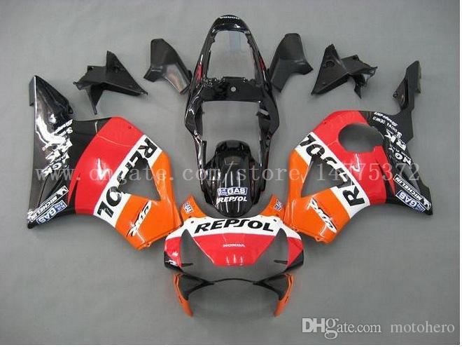 red orange black fairings fit for HONDA CBR900RR 954 2002-2003 CBR900RR 02-03 CBR900 RR 2002-2003 954 fairing kits #k49g8