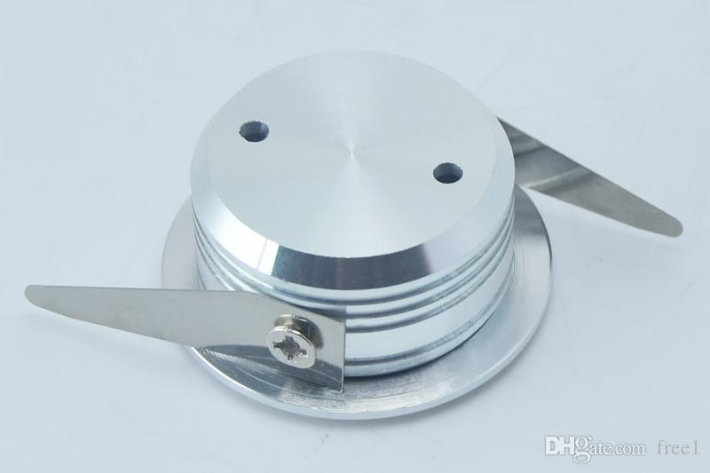 alta potencia led downlight regulable 3w mini led empotrable luces de techo 300lm AC110-240V Blanco cálido / frío + Controladores 30 / 60angle CE