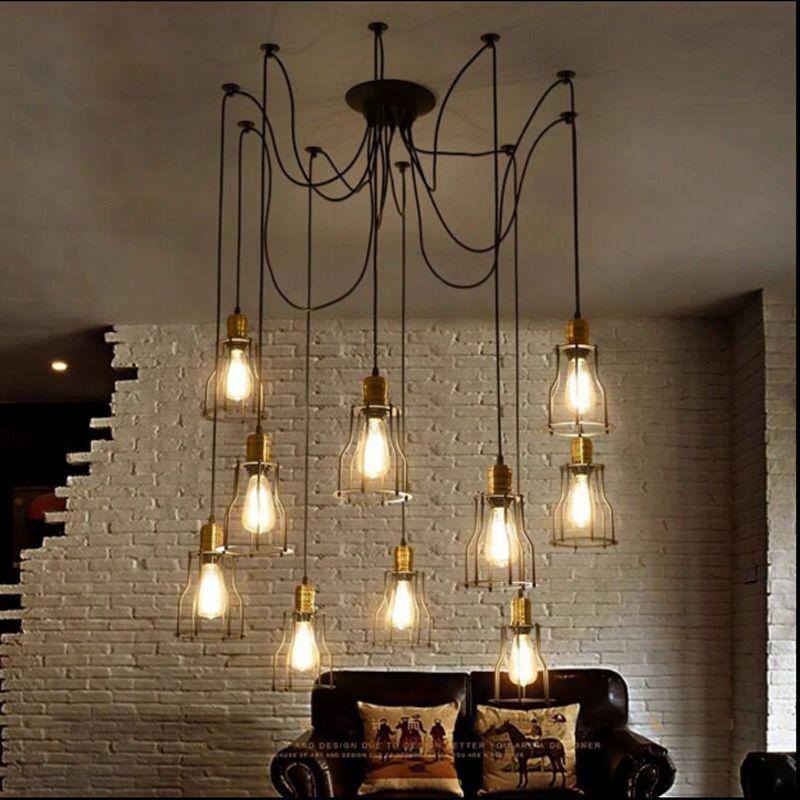 vintage loft industrial style bar restaurant pendant lights clothes shop cafe bar lamp dining. Black Bedroom Furniture Sets. Home Design Ideas