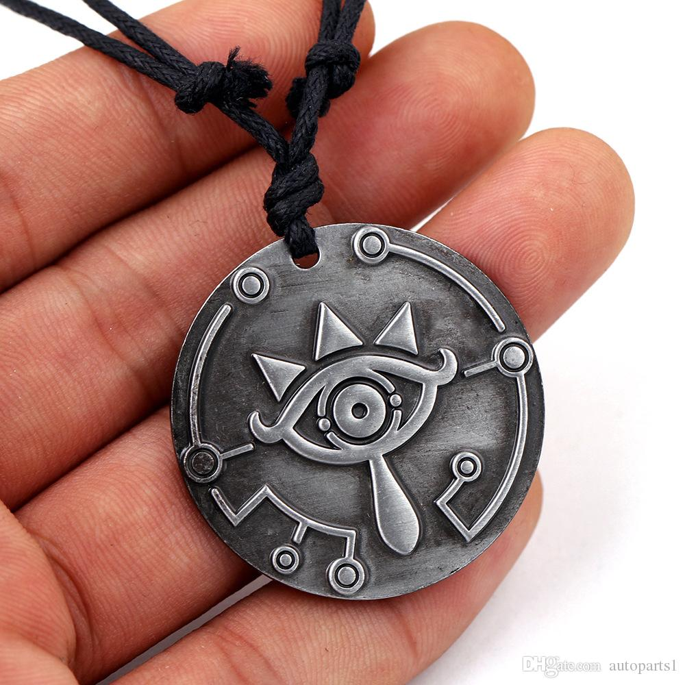 Legend of the zelda Spirit from the Wild Necklace necklace to the scalable rope chain vintage Necklace Pendant big eyes logo charms gift