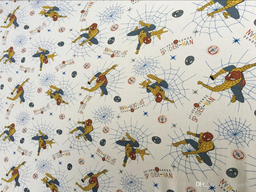 2018 wholesale spiderman lycra cotton fabrics soft knit for Wholesale childrens fabric