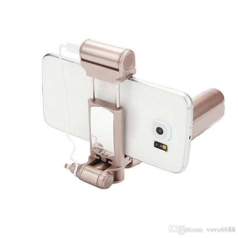 Heißer drahtloser Bluetooth ausdehnbarer Hand-LED Blitz-Fülle heller Mini Selfie Stock für iPhone Samsung freies Verschiffen
