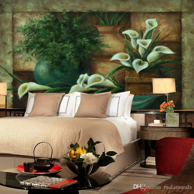 Custom Photo Wallpaper Mural Wall Sticker home Background Wall Living room sofa bedroom European style flowers