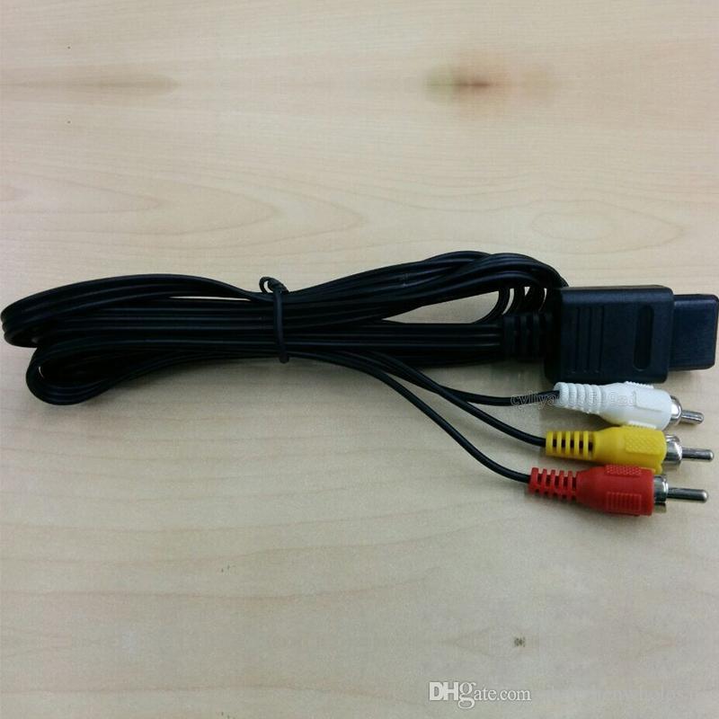 160cm AV TV RCA Video Kablosu Kablo Oyunu Küpü için / SNES GameCube için / Nintendo için N64 64 Toptan için