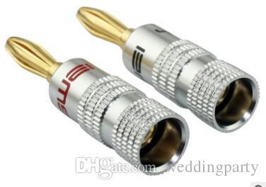 DHL / FEDEX envío gratis alta calidad Nakamichi 24 K oro negro altavoz conectores de plátano conector 500 unids / lote que le gustará