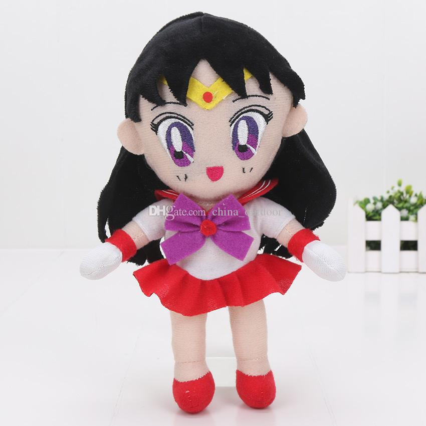 20cm Sailor Moon Plush Doll Toys Characters Sailor Chinbi moon Venus Jupiter Mercury Uranus Children's toys