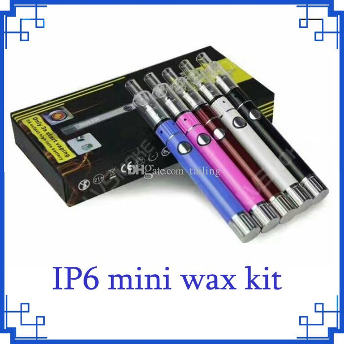 Nuovo kit cera cera IP67 Top Vape Ip6 Mini con kit di accensione per vaporizzatore Kit luce per cera Wax Starter Kit 0266044