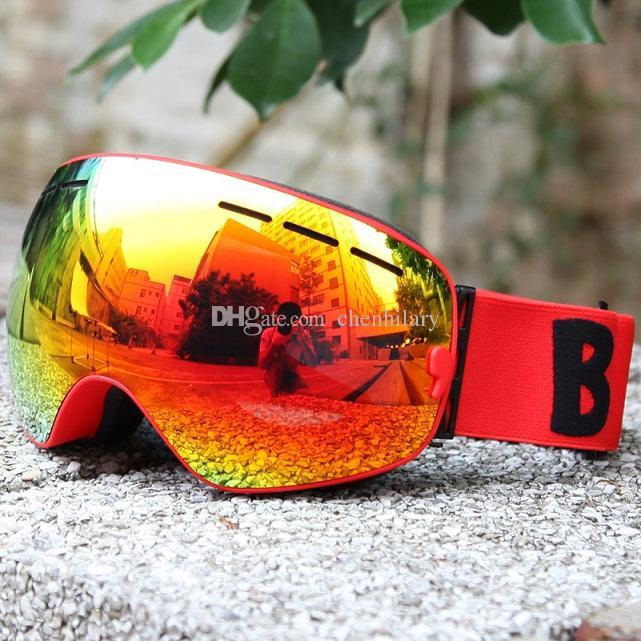 Óculos de esqui UV400 Anti-fog Óculos de Esqui Lente Dupla Esqui Snowboard Skate Snow Motocross Óculos de Esqui Eyewear