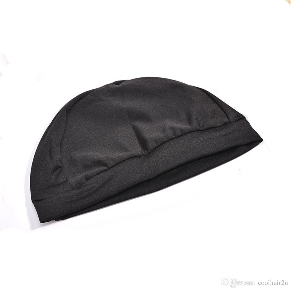 직조 모자 스 판 덱 스 돔가 발 모자를 만들기위한 모자 검정 직조 모자 보이지 않는 머리 그물 나일론 스트레칭 가발 그물 모자
