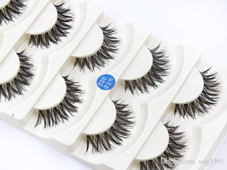 Soft Long Makeup Cross Thick False Eyelashes with Box Package Nautral 3D Handmade Lashes with Retail Box High Quality