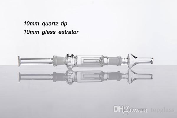 رحيق جامعي التركيز مجموعات 10MM 14MM 18mm وسترو زجاج بونغس يرضع النفط منصات الداب زجاج الكوارتز extrator طرف