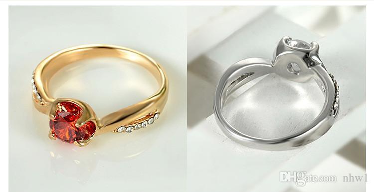 Usine prix mode cristal zircone bagues pour femmes dame filles europe alliage créatif bagues cadeau argent rose or