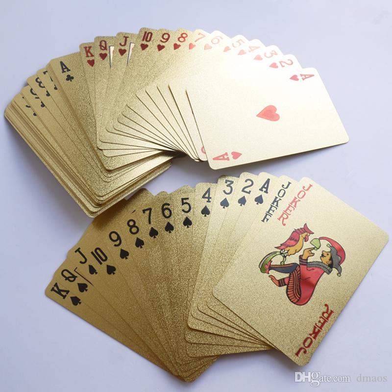 Poker 24K Gold Playing Cards Joker Games King Big Two Table Party Game Foil sheet Office Toy