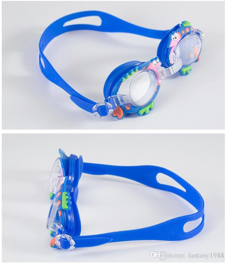 Water Sports Antifog Pool Swimming Goggles Children Kids Boys Girls Diving Glasses Swim Eyewear Silicone Adjustable Colorful DHL/Fedex