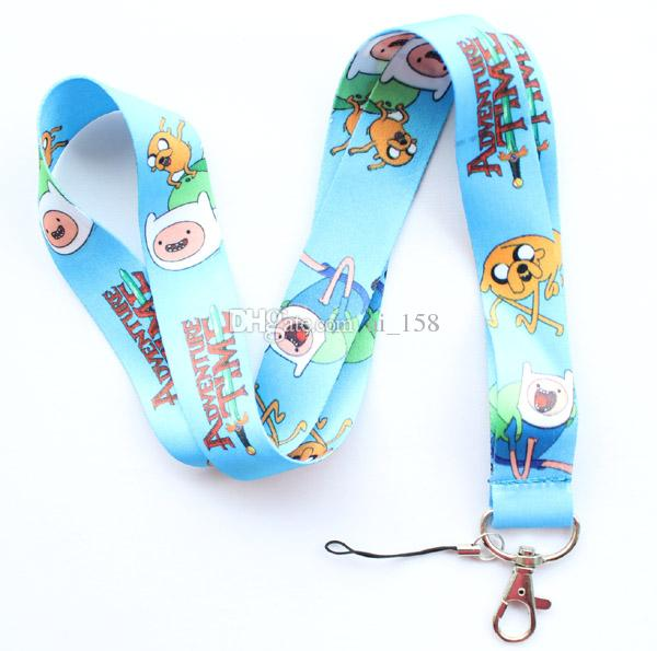 Wholesale New Universal Popular Anime Cartoon car Mobile phone lanyard Key Chain ID card hang rope Sling Neck strap Pendant Gifts 132