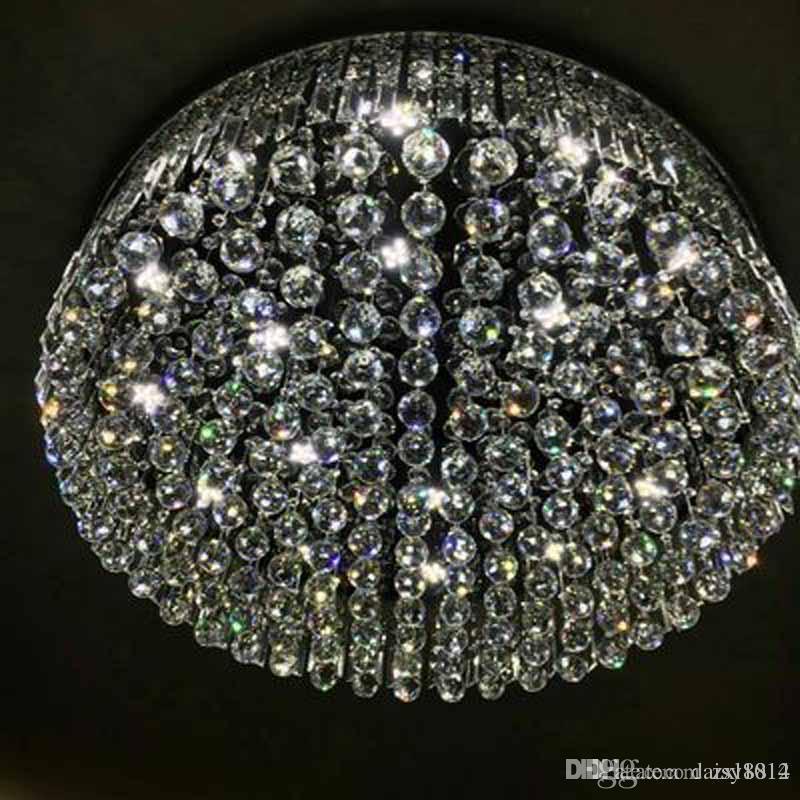 круглый дизайн роскошные хрустальные люстры современные потолочные светодиодные лампы ac110v 220 В гостиная люстра, бесплатная доставка