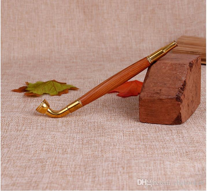 Mini Trumpet Rod Dual-purpose Type Wood Rod Filter Pipe Tobacco Rod Can Be Disassembled for Cleaning