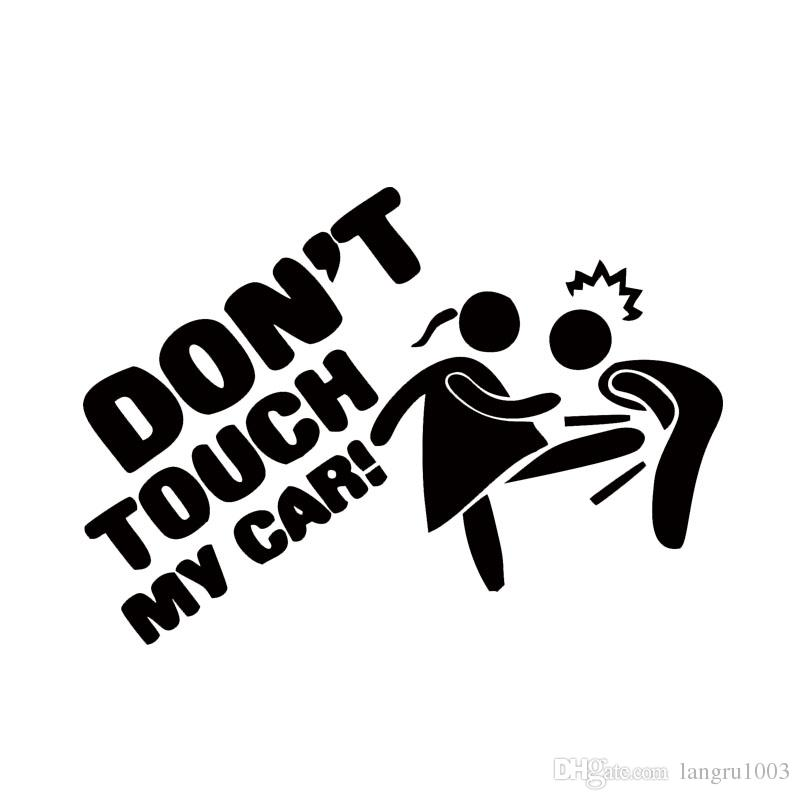 Car Styling For Dont Touch My Car Lady Edition Funny Cartoon - Vinyl decals for my car