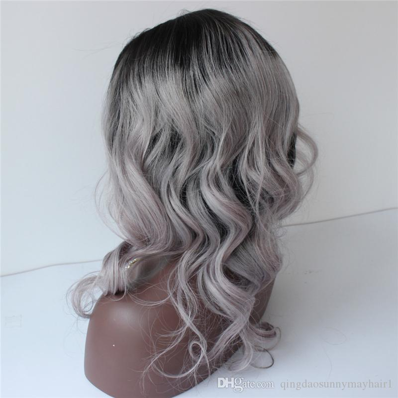 2017 1B/Grey Full Lace Human Hair Wigs Brazilian Natural body wave Lace Front Wigs Cheap Glueless Full Lace Wigs