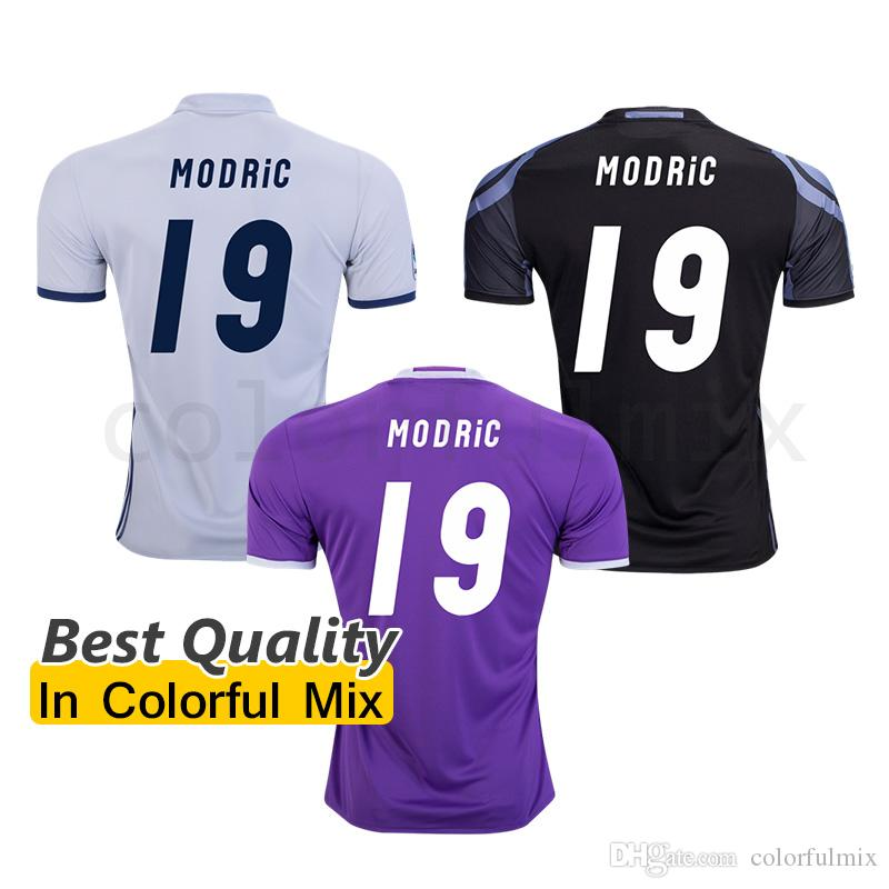 Real Madrid 1516 Luka Modric 19 Away Soccer Jersey 2017 Modric 19 Jersey  1617 Madrid Soccer Jerseys Top Aaa Quality 2016 Home Away Third White ... cba2b8a97