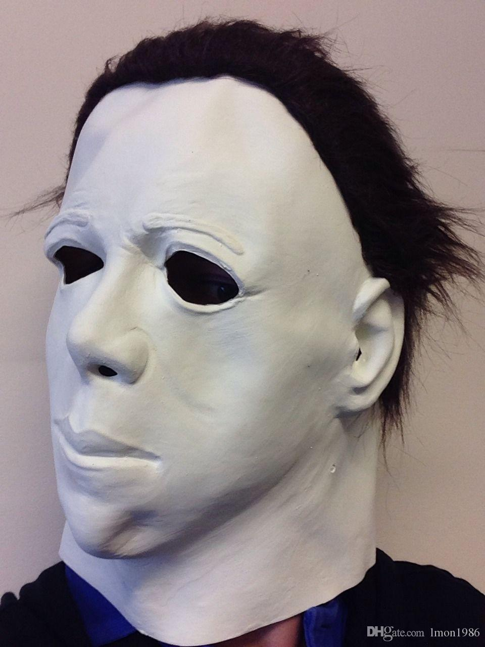Top Grade 100% Latex Scary Michael Myers Mask Style Halloween Horror Mask Latex Fancy Party Horror Movie Party Cosplay