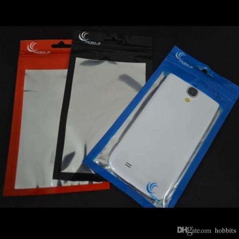 10 * 18cm alluminio + chiaro sacchetto di vendita al dettaglio dei monili sacchetto Zippper blocco di plastica poli sacchetti del PVC del opp sacchetto iPhone 55s telefono cellulare Samsung