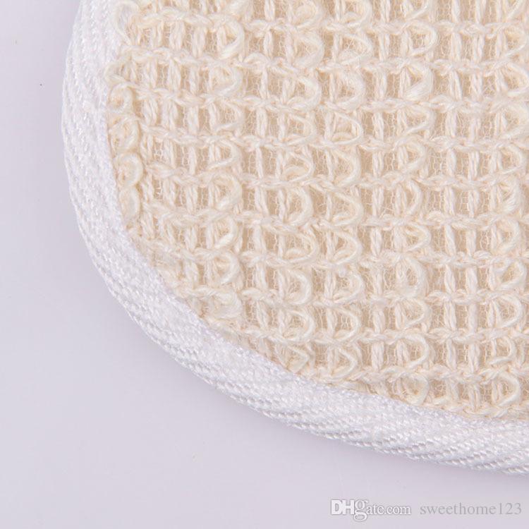 1000 pz Naturale Loofah Luffa Lino Pad Corpo Pelle Esfoliazione Scrubber Bagno Doccia Spa Spugna Accessori Da Bagno Pulita Pelle Liscia