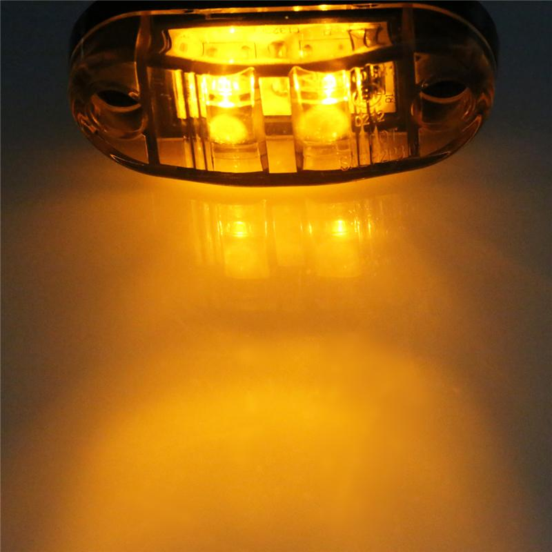 24v 12v Led Seitenmarkierungsleuchten für Anhänger Trucks Caravan Side Clearance Marker Licht Lampe Bernstein Rot Weiß Gelb