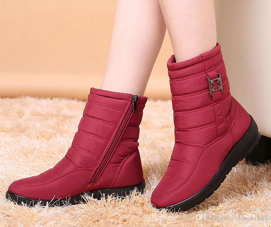 583d233a05e Snow Boots 2019 Brand Women Winter Boots Mother Shoes Antiskid Waterproof  Flexible Women Fashion Casual Boots Plus Size Shoes Boots Online with   43.38 Piece ...