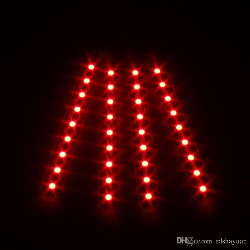 12V DC 9 SMD 10W 5050 Car Auto LED RGB Interior Floor Decorative Atmosphere Strips Pathway Deco Floor Light Remote Control