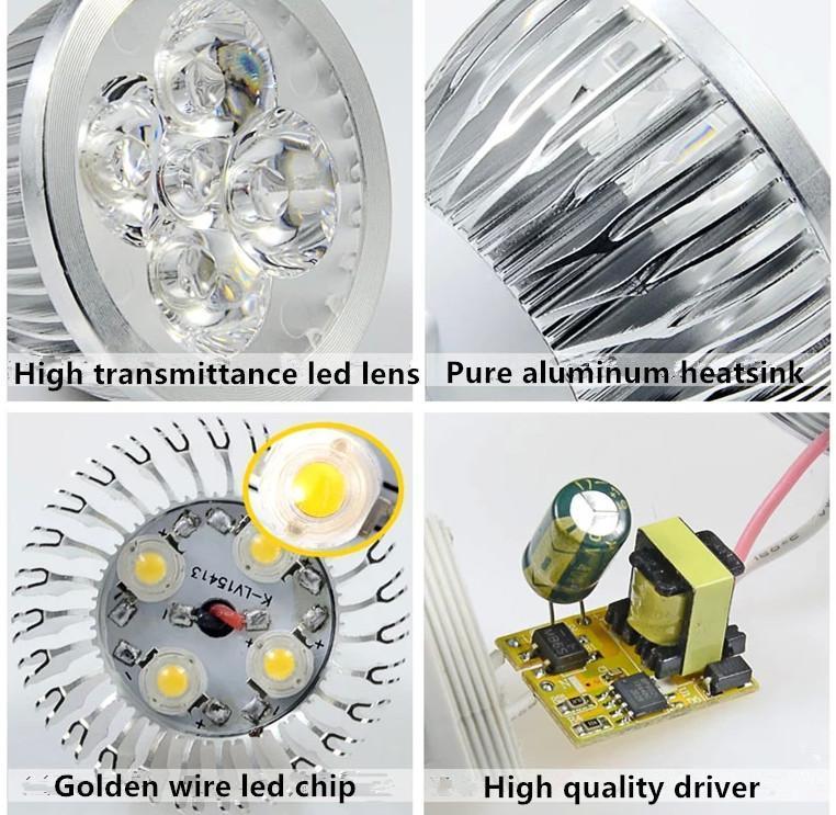 LED 램프 3W 4W 5W 6W 디 밍이 가능한 GU10 MR16 E27 E14 GU5.3 B22 주도 스포트 라이트 전구 스포트 라이트 전구 통 조명