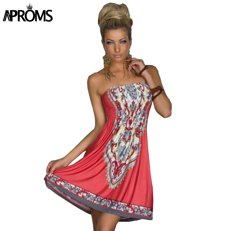 21b2cbc5e56 2019 Wholesale Boho Summer Women Dress Sexy Sundresses Off Shoulder African  Ethnic Floral Print Tunic Beach Dresses Big Size SunDress 2XL 10794 From ...