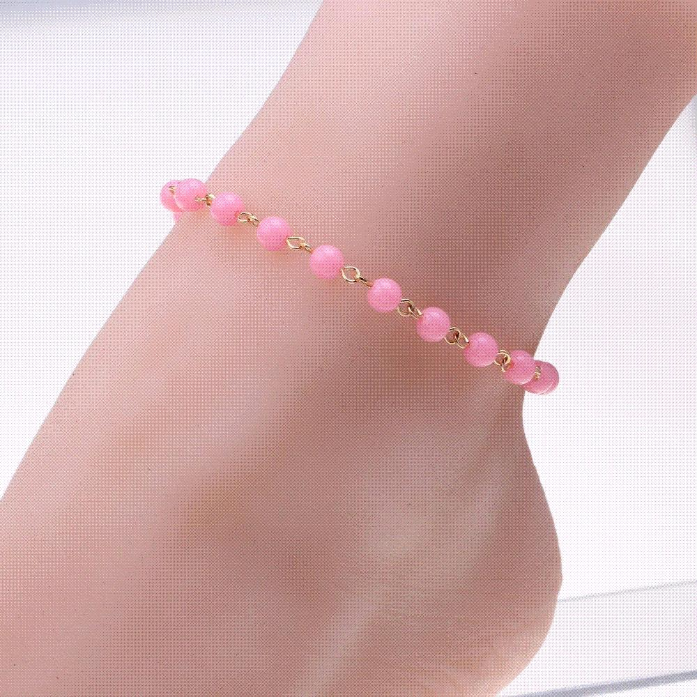gift flower beads gold anklets ankle ankles big lyso exquisite s anklet white plated leg vintage antique bracelet beach product women bridal for from feet jewelry chain tassel